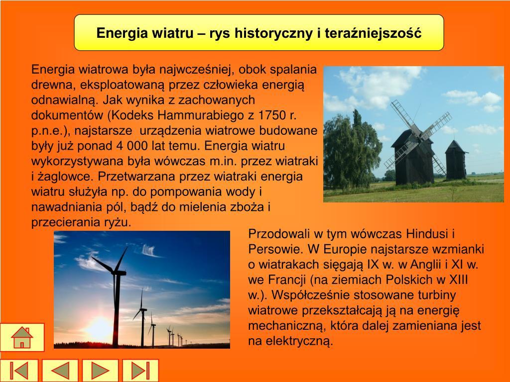 Energia wiatru – rys historyczny i teraźniejszość