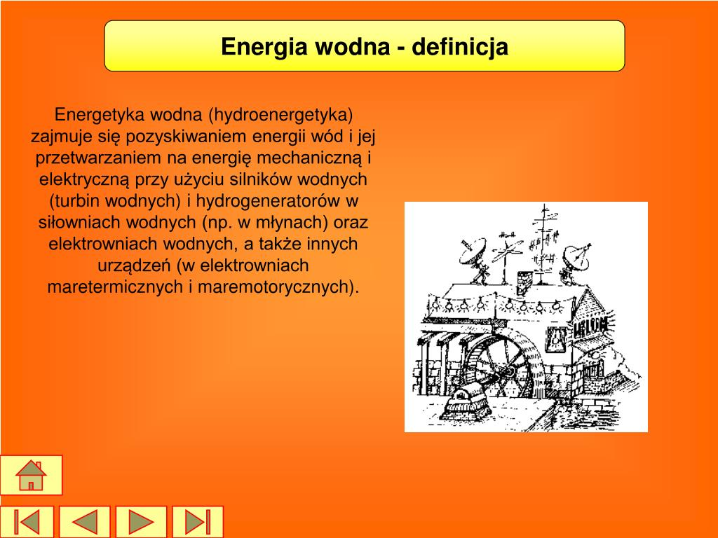 Energia wodna - definicja