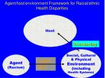 agent host environment framework for racial ethnic health disparities13