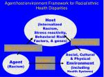 agent host environment framework for racial ethnic health disparities24