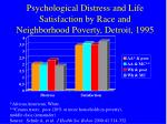 psychological distress and life satisfaction by race and neighborhood poverty detroit 1995