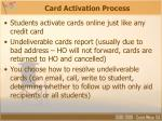 card activation process