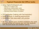 typical financial aid office tasks