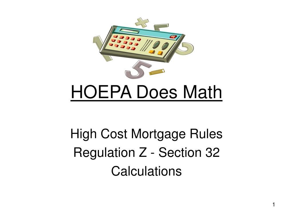 hoepa does math l.
