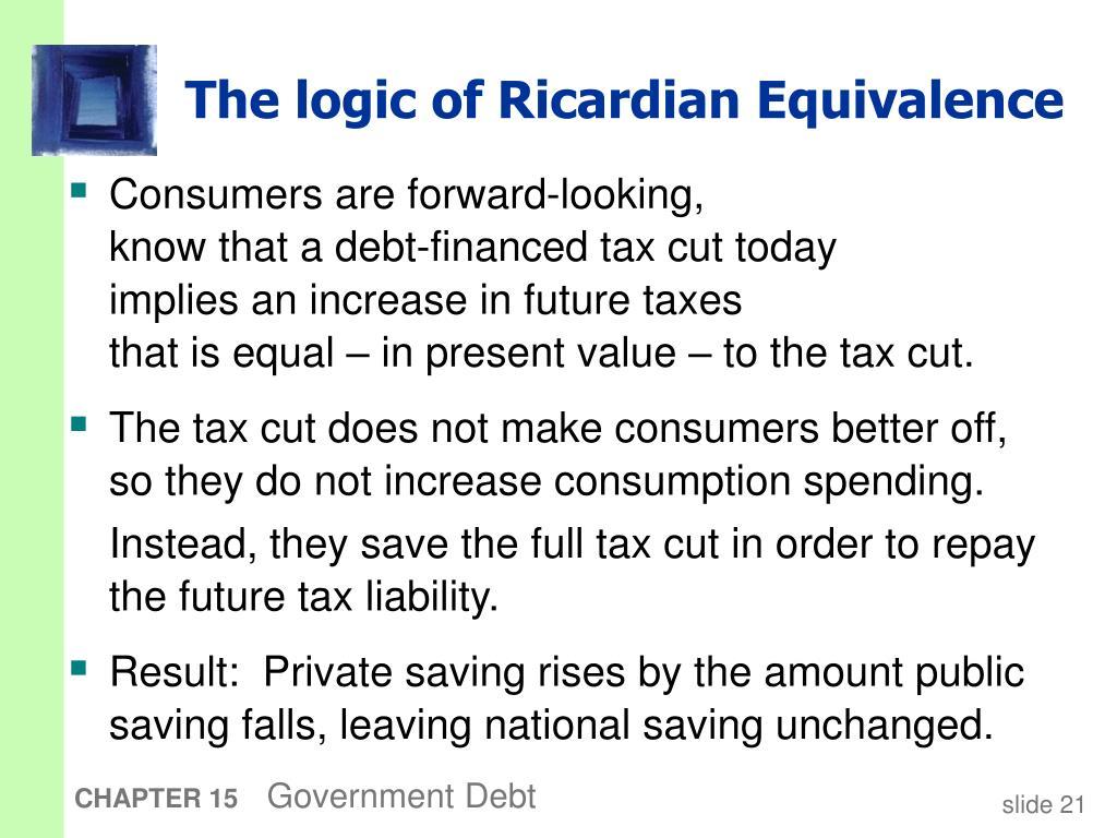 The logic of Ricardian Equivalence