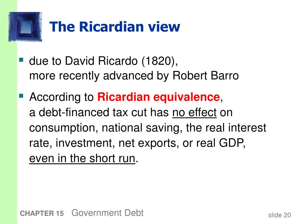 The Ricardian view