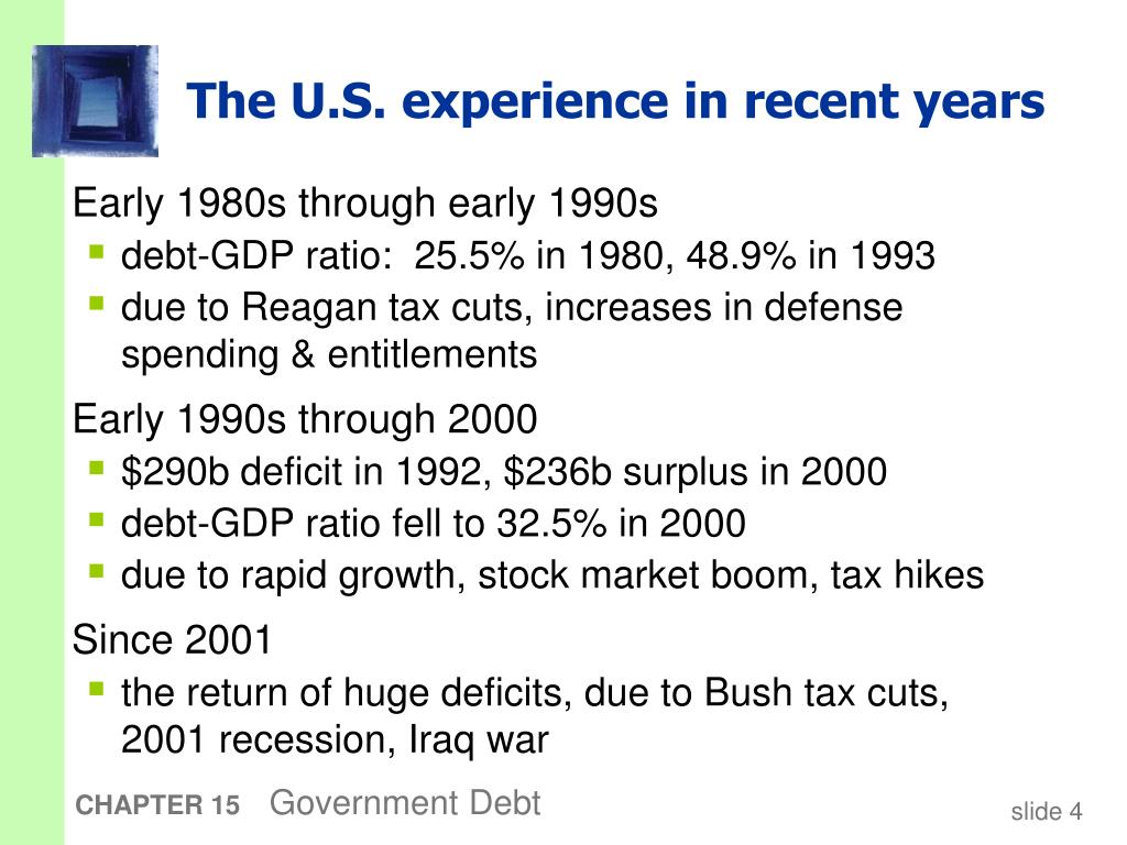 The U.S. experience in recent years