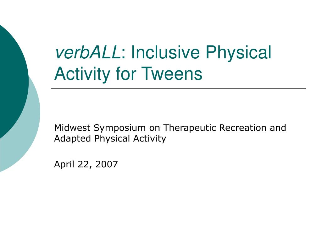 verball inclusive physical activity for tweens
