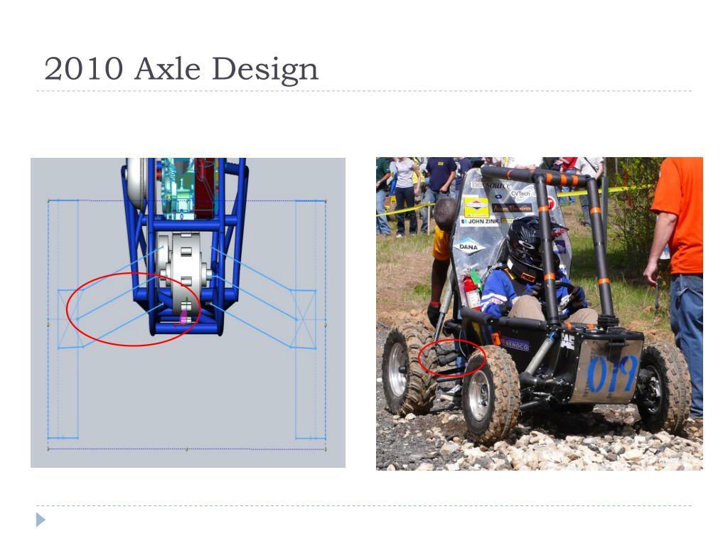 2010 Axle Design