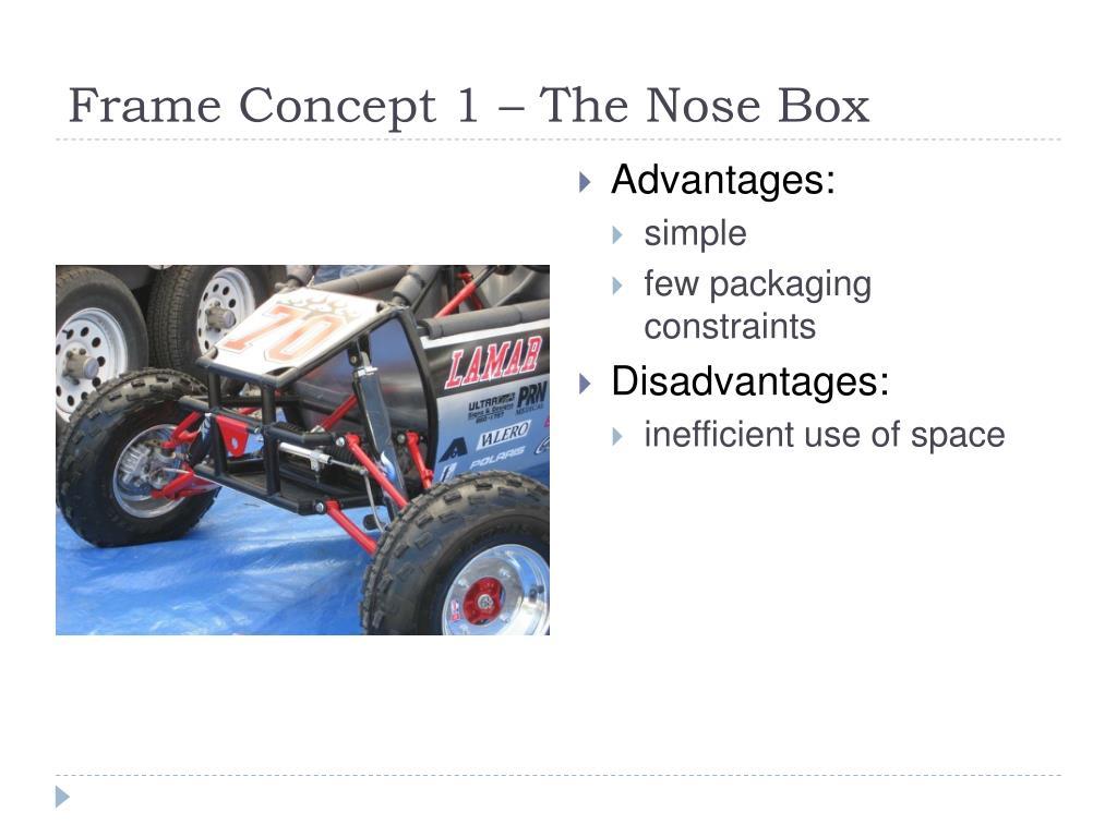 Frame Concept 1 – The Nose Box