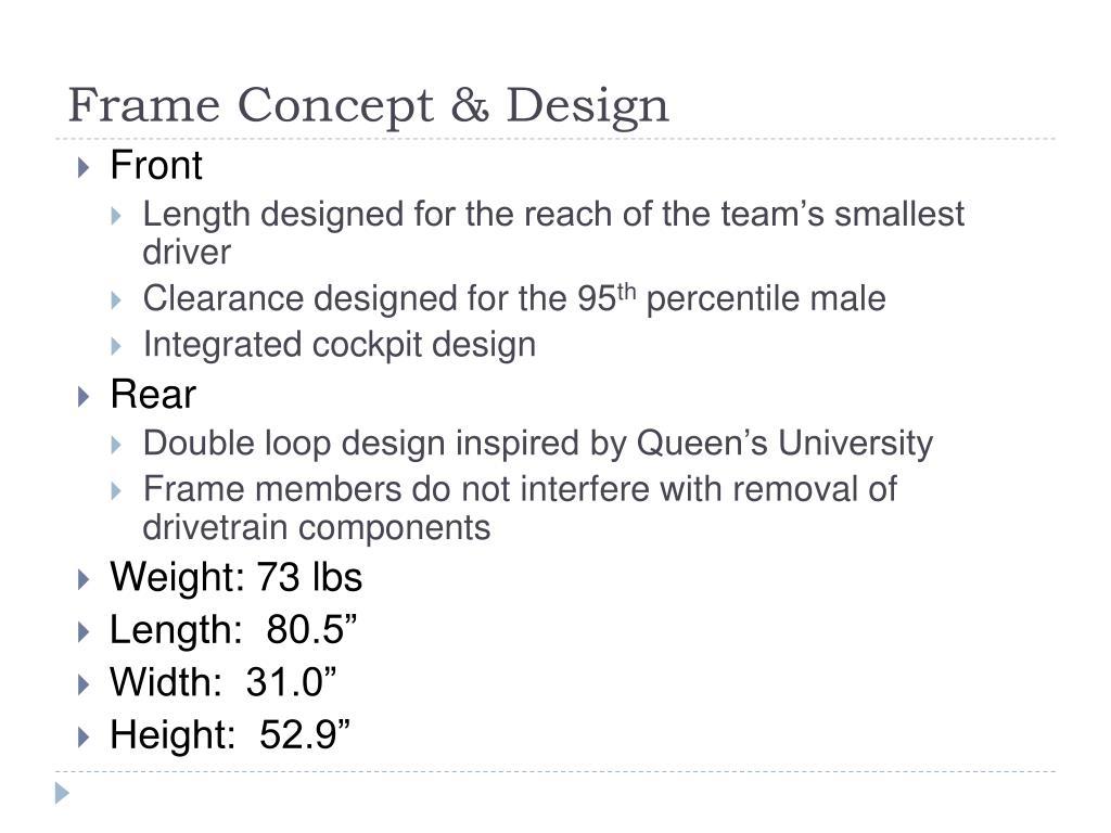 Frame Concept & Design