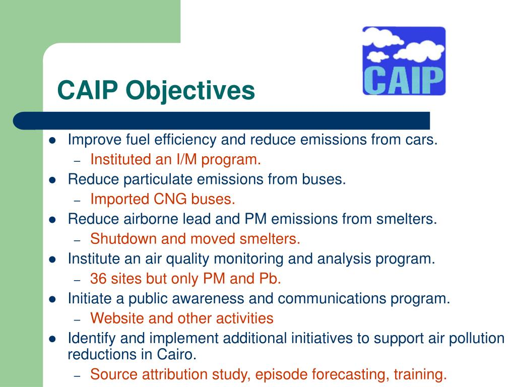 CAIP Objectives