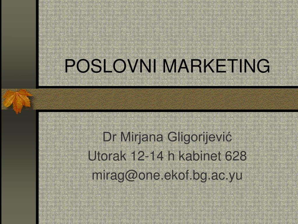 poslovn i marketing l.