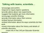 talking with teams scientists