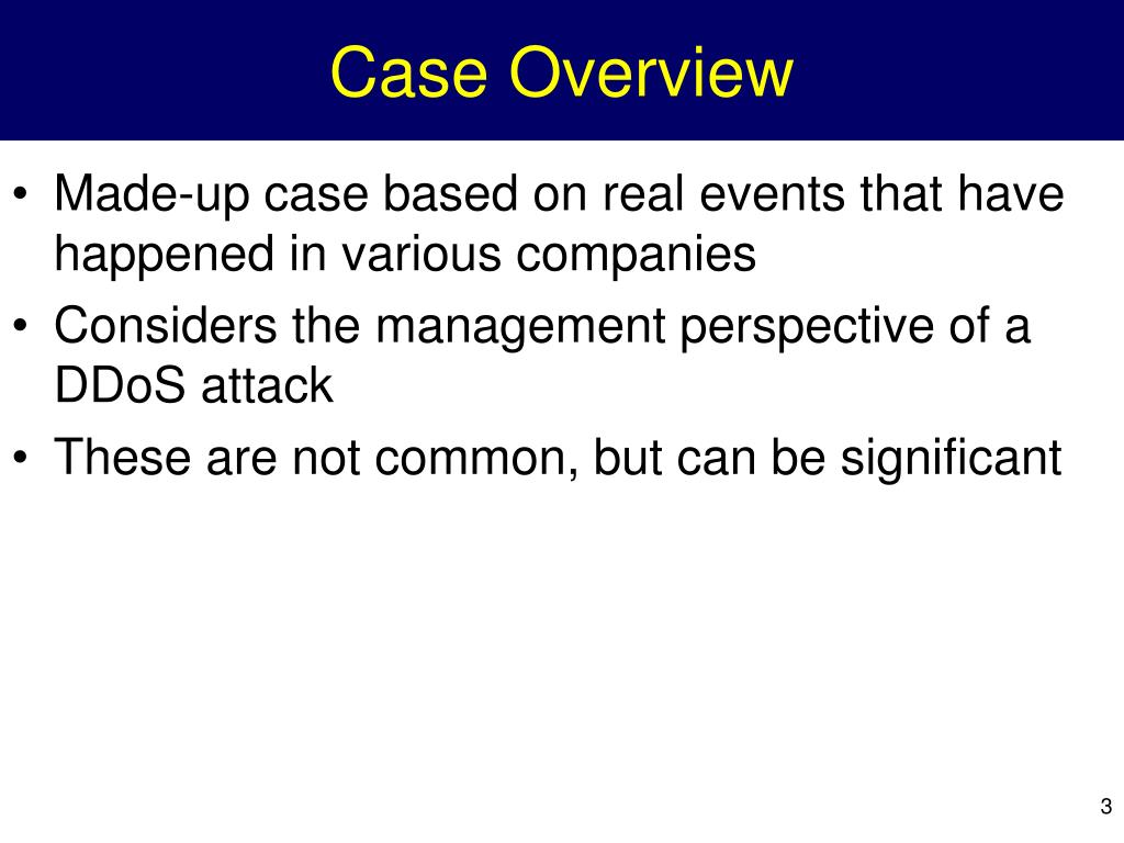 Case Overview