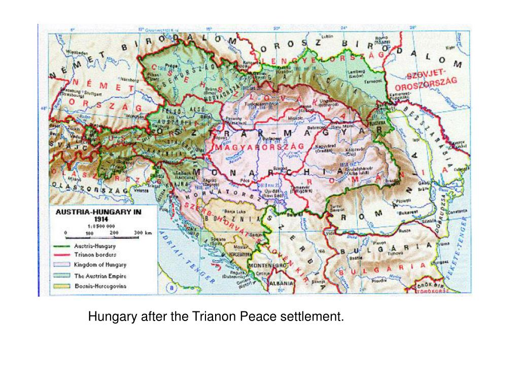Hungary after the Trianon Peace settlement.