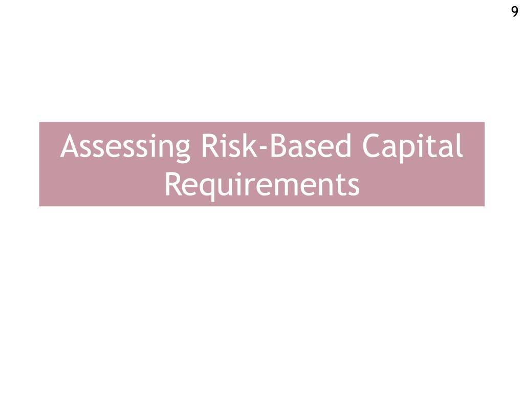 Assessing Risk-Based Capital Requirements