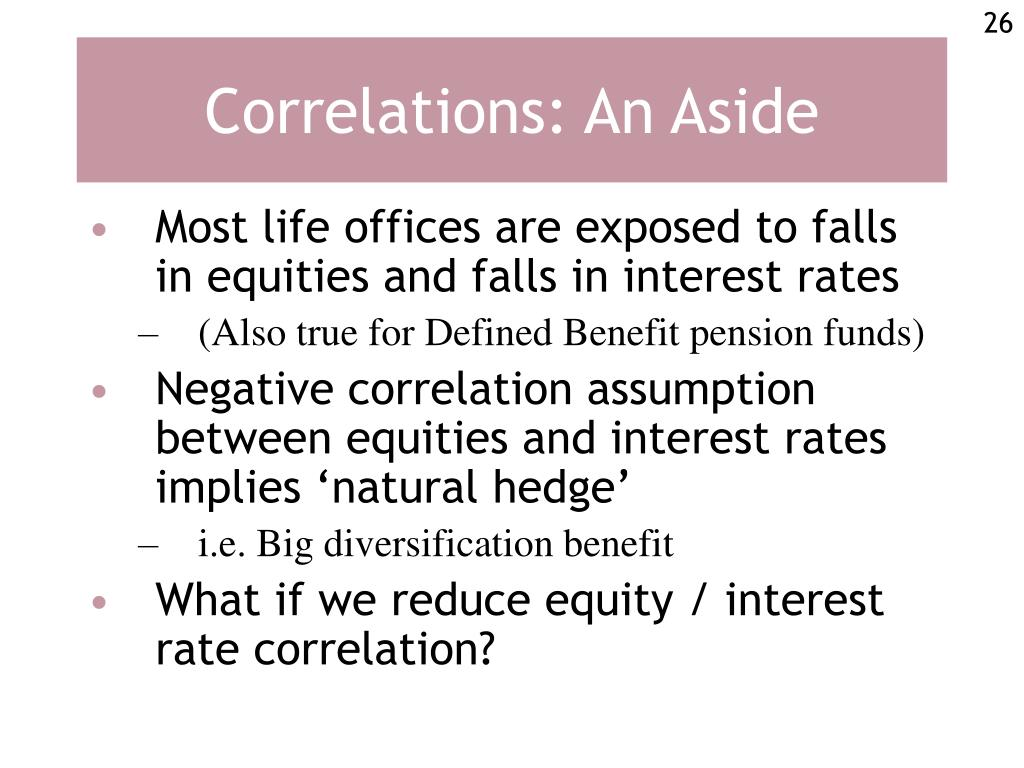 Correlations: An Aside