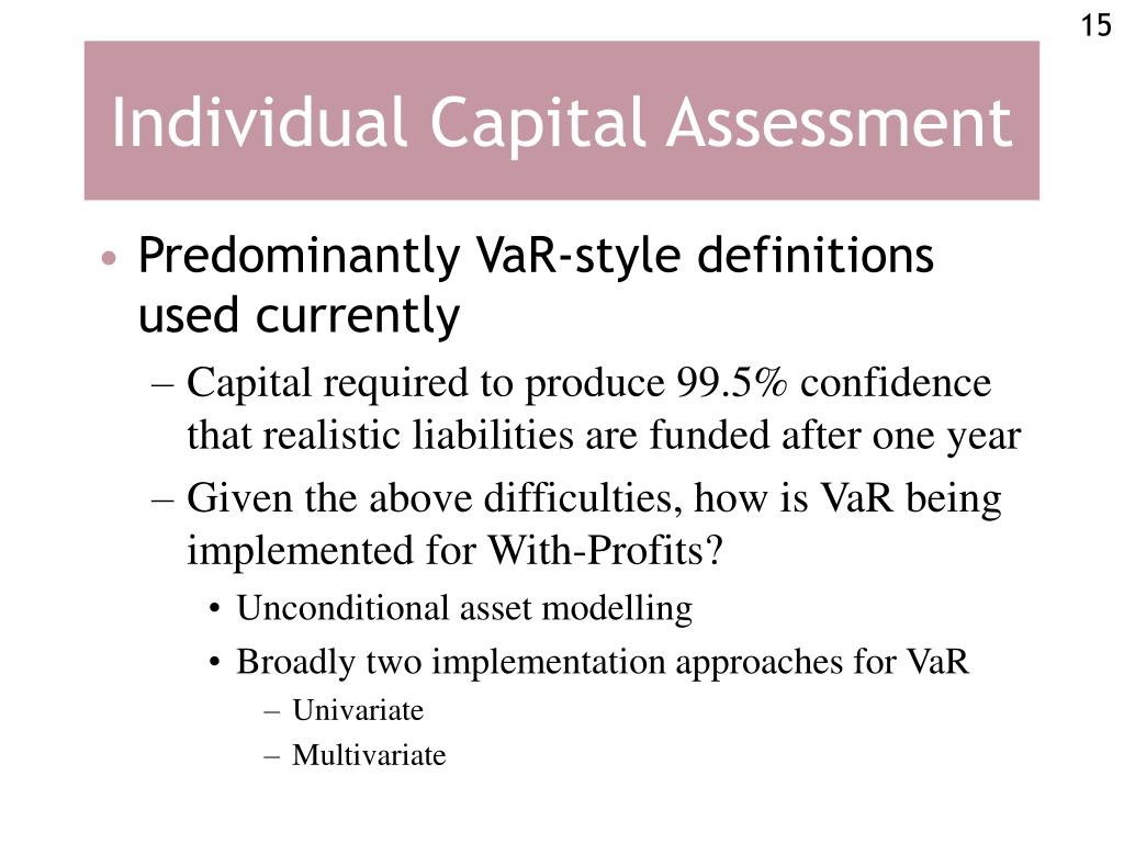 Individual Capital Assessment