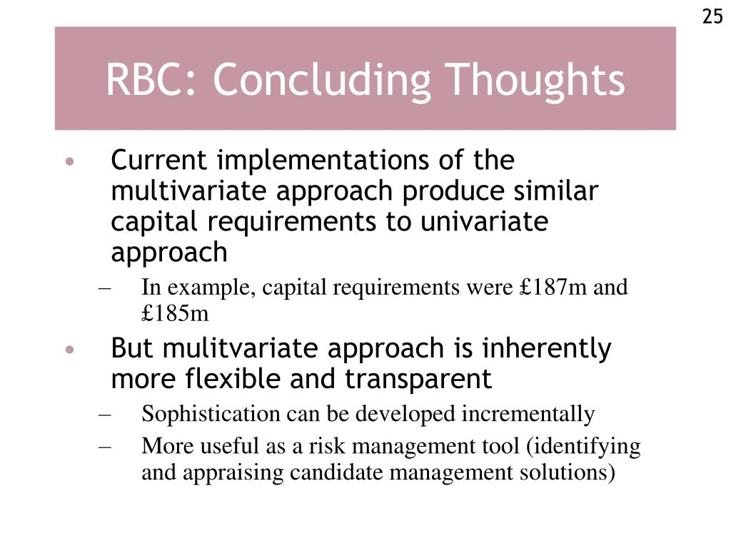 RBC: Concluding Thoughts