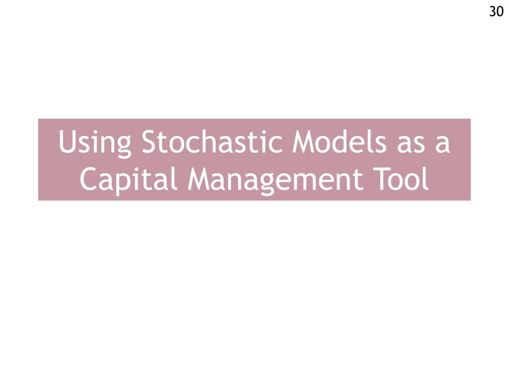 Using Stochastic Models as a Capital Management Tool