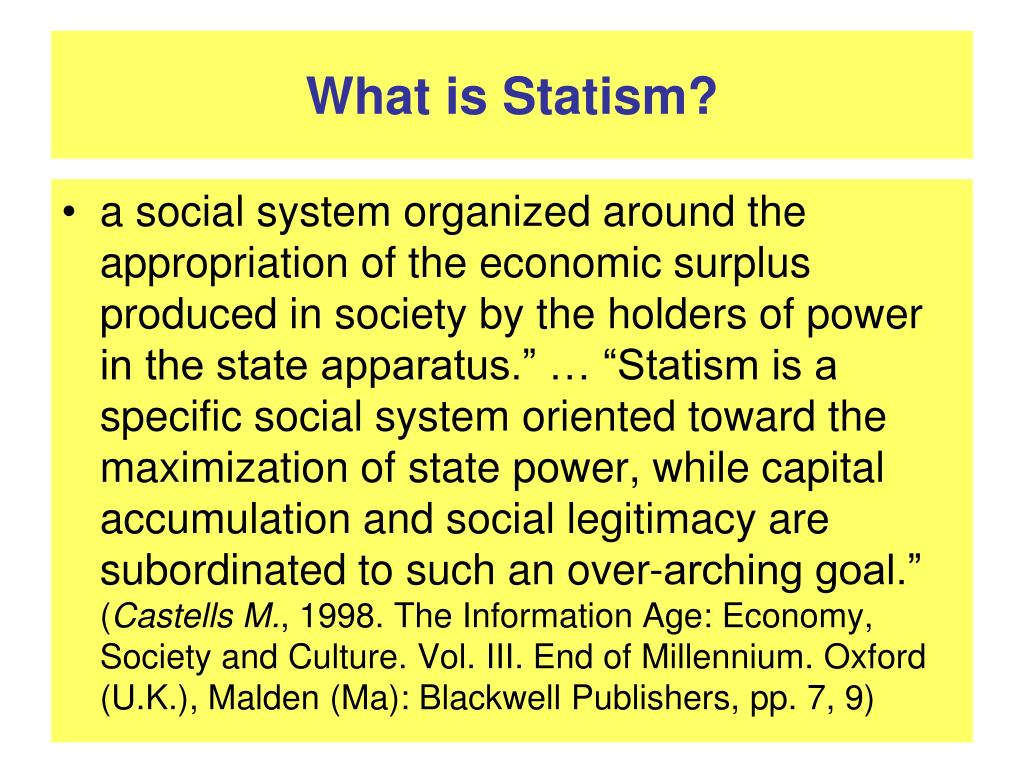 What is Statism?