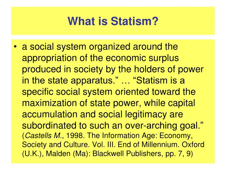 What is statism
