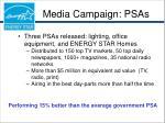 media campaign psas