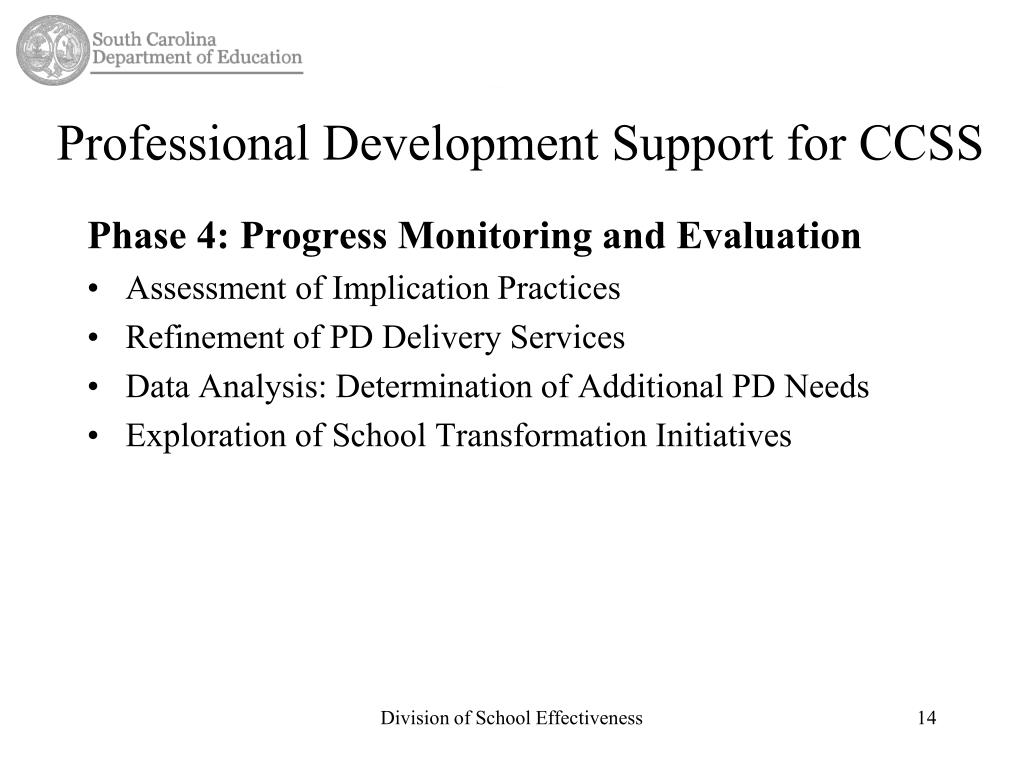 Professional Development Support for CCSS