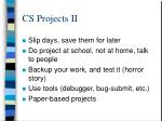 cs projects ii