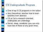 cs undergraduate program