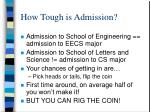 how tough is admission