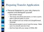 preparing transfer application8