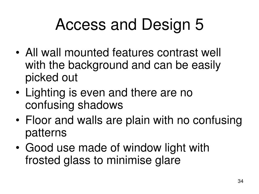 Access and Design 5