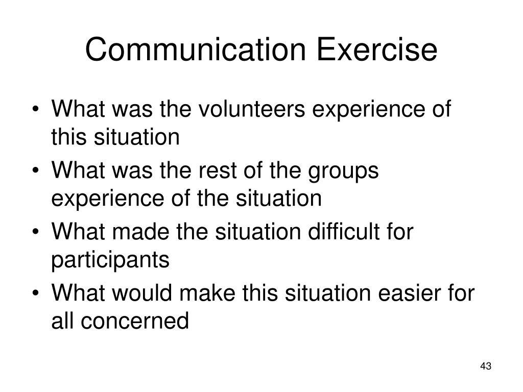 Communication Exercise