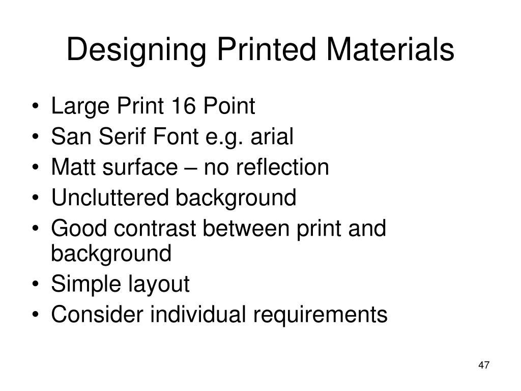 Designing Printed Materials