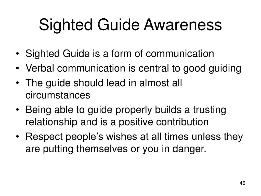 Sighted Guide Awareness
