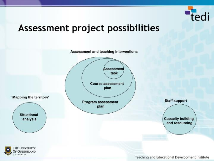 Assessment project possibilities