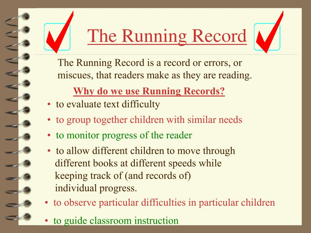 The Running Record