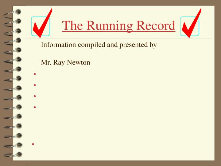 The running record2