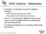 gss initiative addresses7