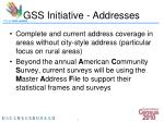 gss initiative addresses8