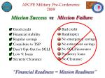 financial readiness mission readiness