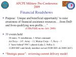 financial roadshows