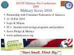military saves 2010