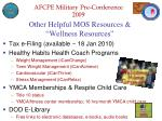 other helpful mos resources wellness resources