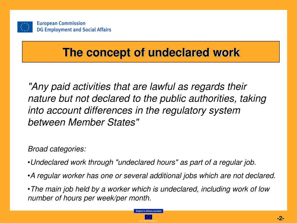 The concept of undeclared work