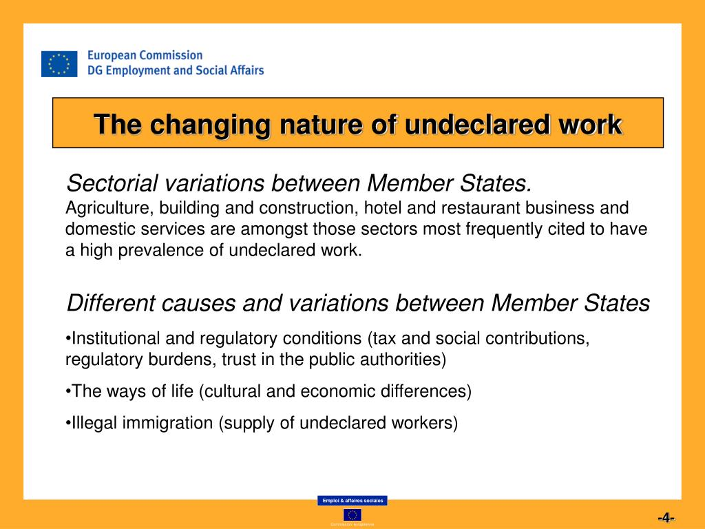 The changing nature of undeclared work