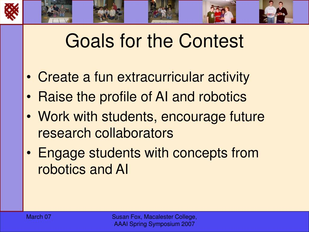 Goals for the Contest