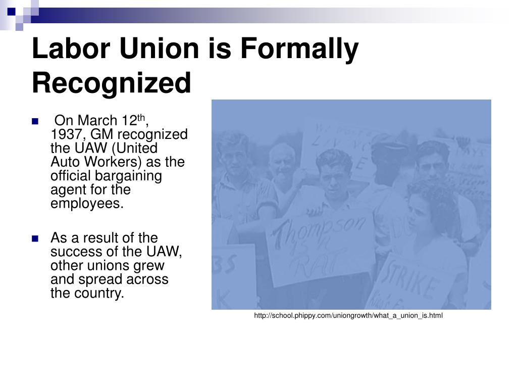 Labor Union is Formally Recognized